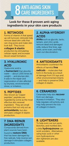 8 Anti-aging skincare ingredients...