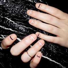 17 Fashionable Office Nail Designs: #16. Simple Black And White Nail Design