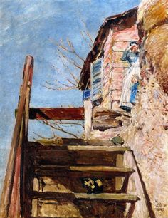 The Athenaeum - The Stairs (Frederick Childe Hassam - )