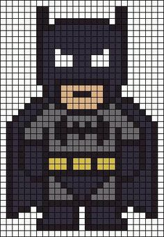 Batman Perler Bead Pattern-could also work for a quilt pattern :) . - Batman Perler Bead Pattern-could also work for a quilt pattern :] – making - Pearler Bead Patterns, Perler Patterns, Pearler Beads, Quilt Patterns, Loom Patterns, Art Patterns, Knitting Patterns, Crochet Patterns, Blanket Patterns