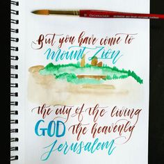 Oops. Mixed up my days and forgot to post this yesterday. . Day 25 of my #BibleWritingPlan Hebrews 12:18-24. . I hope I get the opportunity to visit Jerusalem one day. . And that capital B... . . . #BibleWriting #LetteringChallenge #BibleWritingChallenge #BibleJournaling #BibleWritingPlan #Bible #Hebrews #Faithfulness #whatisfaith #thethingsunseen #communityofchristiancreatives #christiancommunity #Handlettering #Penteltouch #Lettering #ModernCalligraphy #letteringleague #letteringtheBible…
