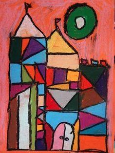 paul klee kid art project, paul klee cubism castles