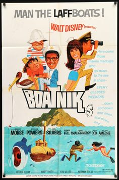 Film: The Boatniks Year poster printed: 1970 Country: USA Size (inches): .Film: The Boatniks Year poster printed: 1970 Country: USA Size (inches): x This is an original one-sheet movie poster from 1970 for Walt Walt Disney Movies, Classic Disney Movies, Disney Movie Posters, Old Movie Posters, Movie Poster Art, Film Posters, Disney Live, Pixar Movies, Disney Stuff