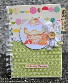 "Orange Cupcake Recipe Notebook 5"" x 7"" £13.00"