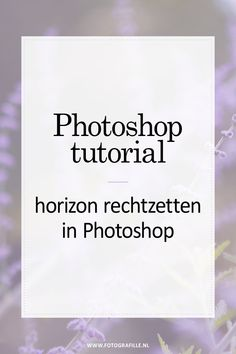 tutorial - horizon rechtzetten in Photoshop - Fotografille Photoshop Tutorial, Cool Photoshop, Photoshop Brushes, Photoshop Elements, Photoshop Actions, Photoshop Website, Photoshop Projects, Photoshop Design, Photoshop For Photographers