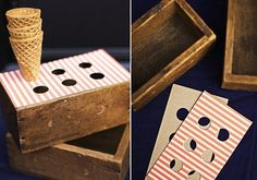 wooden holders for waffle cone icecreams - Google Search