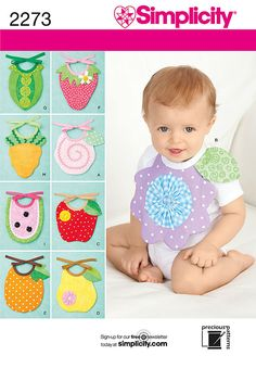 Simplicity 2273 Sewing Pattern  Baby Bibs  by TheFunBuggy on Etsy
