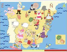 Mapa de España ilustrado por Jovanni Cantero (colombiano)