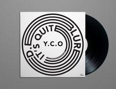 Blured. it's quit Y.C.O album artwork design by Alex Sullivan