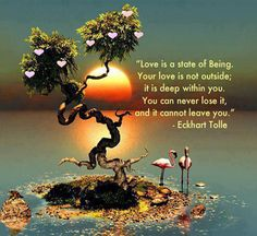 you can never lose your love eckhart tolle picture quote. www.schoolofsoul.net