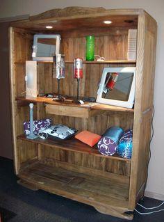 """Résultat de recherche d'images pour """"transformation armoire annee 40 en bibliotheque"""" Liquor Cabinet, Storage, Images, Furniture, Home Decor, Converted Closet, Photo Galleries, Woodwind Instrument, Restoration"""
