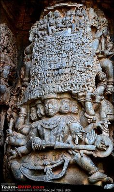 so much of details.Notice Shiva - Parvati sitting on Nandi on top of the mountain - in Halebid, Zenith of Hoysala Hindu Deities, Hinduism, Indian Classical Dance, Indian Architecture, India Art, Greek Art, God Pictures, Buddhist Art, Indian Gods