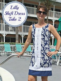 Sew your own designer dress using the simple Lilly Shift Dress pattern. Ideas…