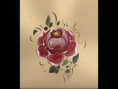 Die Barockrose, Bauernmalerei - Dekoratives Malen Malkurs - YouTube