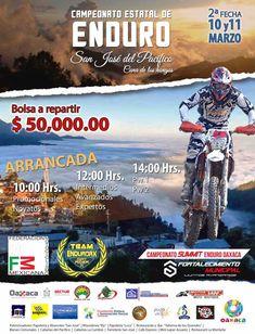 La Secretaría de Turismo del Gobierno del Estado de Oaxaca, (SECTUR) invita a la población al Campeonato Estatal de Enduro en su segunda fecha