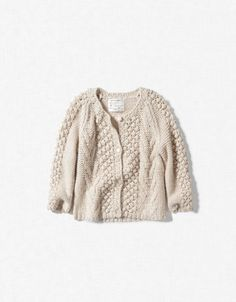 CABLE AND BOBBLE STITCH CARDIGAN