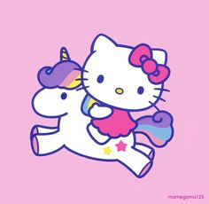 Hello kitty with her unicorn 3 cute kawaii the jpg Sanrio Hello Kitty, Hello Kitty Fotos, Hello Kitty Imagenes, Hello Kitty Art, Hello Kitty Tattoos, Hello Kitty Drawing, Hello Kitty Tumblr, Hello Kitty Crafts, Kitty Party