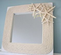 Mirror with Rope & Seashells