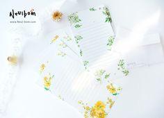 #늘봄 들꽃 편지지 floral letter/ illust, design by Neul-Bom www.neul-bom.com