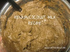 My henna recipe with coconut milk — nice. I've never used acv with my henna before. May add it next time.