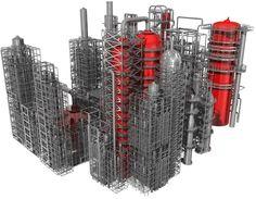Refinery - 3D model