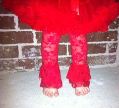 Lace Leg Warmer  Baby Girl leg warmer  Ruffle by LaLaBoutiqueBling