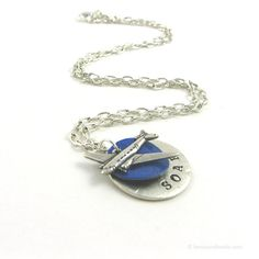 Plane+Necklace+for+Pilot+Who+Loves+Airplanes+Jets+by+michellemach,+$22.00