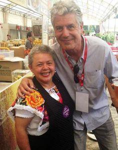 La Guerrerense's Sabina Banderas with her biggest fan.