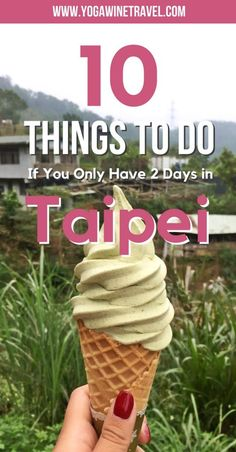 Yogawinetravel.com: Taiwan Travel Guide - 10 Things to Do If You Only Have 48 Hours in Taipei. Taipei is an incredibly vibrant city with tons to see and do (and eat). If you are visiting this part of the world then Taipei should not to be skipped - read on for a list of the top things to do and see if you only have 48 hours in Taiwan's capital city!