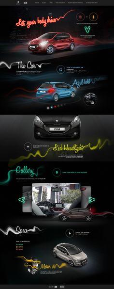 Hotsite Peugeot 208 on Behance #car