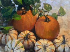 """Patrick Saunders Fine Arts on Instagram: """"I've always enjoyed painting pumpkins. They have such vibrant colors and come in so many slightly off-kilter yet somewhat predictable…"""""""