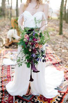 Autumn Bohemium Outdoors Wedding Inspiration