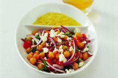 Středomořský cizrnový salát Jamie Oliver, Feta, Mexican, Cooking, Ethnic Recipes, Kitchen, Brewing, Mexicans, Cuisine