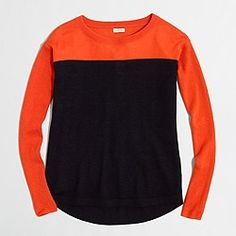 Factory swing sweater in color block from J Crew Factory