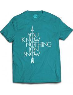 Camiseta You Know Nothing Jon Snow - Game Of Thrones t shirts