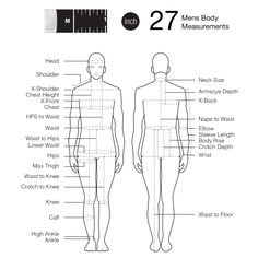 The World's 1st tape with marks of advanced body measurements. Perfect for body size reference.