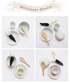 Délicieuse dînette en porcelaine - handmade by Lucille Michieli www.foxshop.bigcartel.com