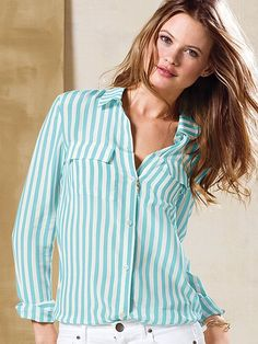 Silk Button-down Shirt #VictoriasSecret http://www.victoriassecret.com/clothing/view-all-tops/silk-button-down-shirt?ProductID=105919=OLS?cm_mmc=pinterest-_-product-_-x-_-x