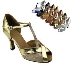 Women's Salsa Ballroom Tango Latin Multicolored Dance Shoes 2 5 3 Very Fine 2703 | eBay