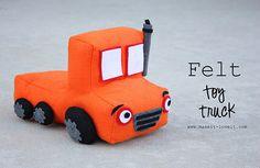 DIY felt toy truck