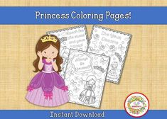 "Six princess-themed color pages. Instant download! Print as many times as you wish! Great for dance studios and recitals! Great for birthday party favors! Print for use. PLEASE NOTE: There is NO personalization for this product. The ""personalization"" area is for customers to acknowledge that Sight Word Bingo, Sight Word Activities, Counting Activities, Sight Words, Dance Coloring Pages, Princess Coloring Pages, Abc Tracing, Name Tracing Worksheets, Handwriting Worksheets"