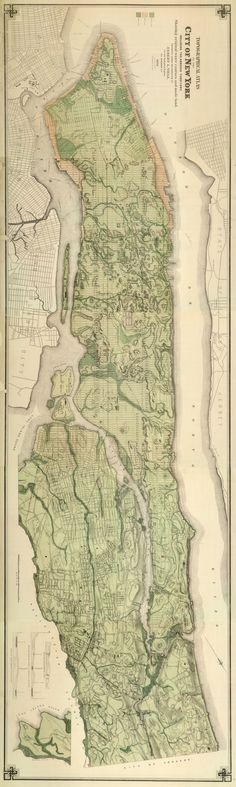 Topographic Atlas of the City of New York, 1874