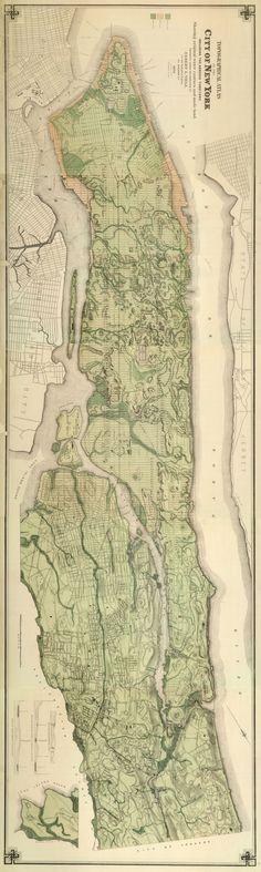 Topographic Atlas of the City of New York, 1874