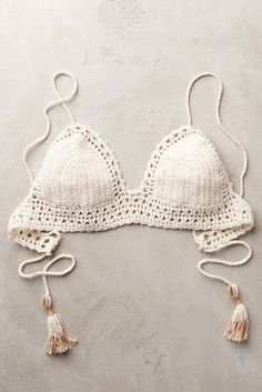 She Made Me Crochet Top White #Swimwear #anthrofave