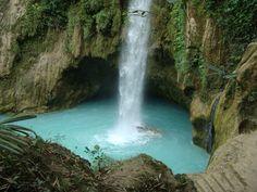 Inambakan Falls in Ginatilan, Cebu, Philippines