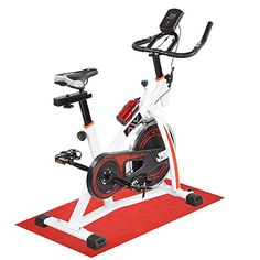 AW Fitness Gym Exercise Bike Bicycle Cycle Trainer Cardio Workout Indoor Home White -- Click on the image for additional details.