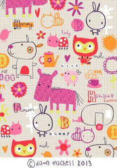 Cute! print & pattern: SURTEX - ©Dawn Machell 2013