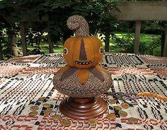 Primitive-Folk-Art-Wool-Pumpkin-Jack-O-Lantern-Make-Do-Pincushion-Pinkeep-Pins