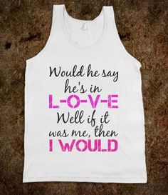 Tank with I Would lyrics by One Direction