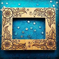 4x6 inch Wood Henna Mehndi Frame with arabic by NewWorldHenna, $30.00